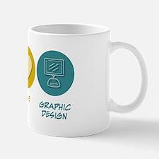 Peace Love Graphic Design Mug