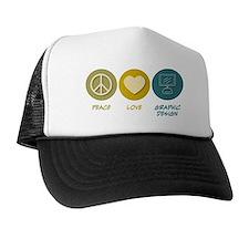 Peace Love Graphic Design Cap