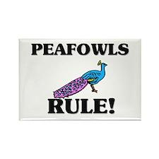 Peafowls Rule! Rectangle Magnet