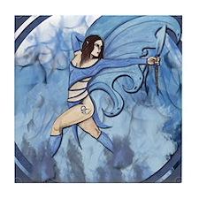 """Blue Flame Faery, """"Tera"""" Tile Coaster"""