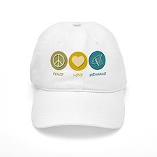 Peace Love Grammar Baseball Cap