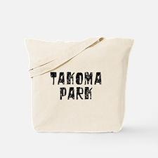 Takoma Park Faded (Black) Tote Bag