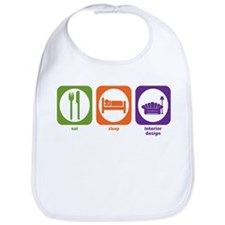 Eat Sleep Interior Design Bib