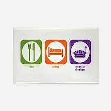 Eat Sleep Interior Design Rectangle Magnet