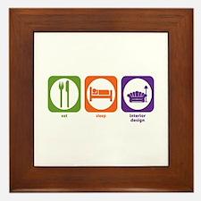 Eat Sleep Interior Design Framed Tile
