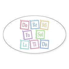 Solfege Baby Blocks Oval Sticker (10 pk)