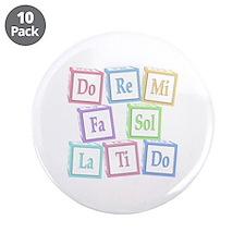 """Solfege Baby Blocks 3.5"""" Button (10 pack)"""