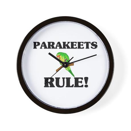 Parakeets Rule! Wall Clock