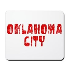 Oklahoma City Faded (Red) Mousepad