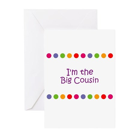 I'm the Big Cousin Greeting Cards (Pk of 10)