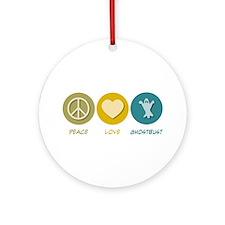Peace Love Ghostbust Ornament (Round)