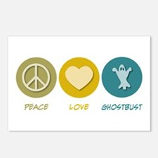 Peace Love Ghostbust Postcards (Package of 8)