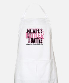 My Battle Too 1 (Wife BC) BBQ Apron