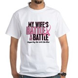 Breast cancer Mens White T-shirts