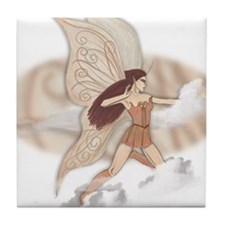 Brianna, faery art Tile Coaster