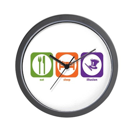 Eat Sleep Illusion Wall Clock
