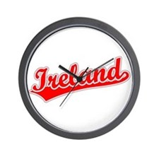 Retro Ireland (Red) Wall Clock