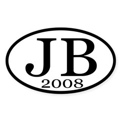 JB 2008 pro-Biden Oval Bumper Decal
