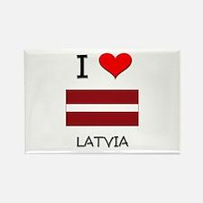 I Love Latvia Rectangle Magnet