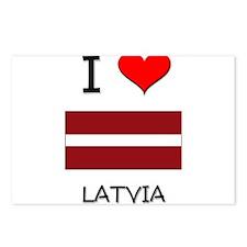 I Love Latvia Postcards (Package of 8)