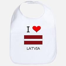 I Love Latvia Bib