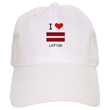 I Love Latvia Baseball Cap