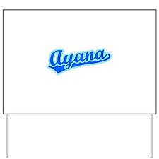 Retro Ayana (Blue) Yard Sign