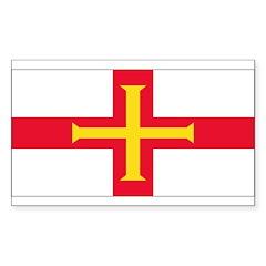 Guernsey Blank Flag Rectangle Sticker 50 pk)