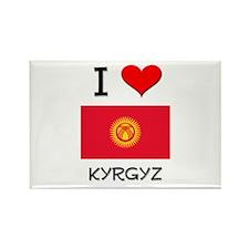 I Love Kyrgyz Rectangle Magnet
