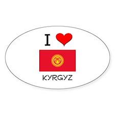 I Love Kyrgyz Oval Decal