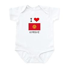 I Love Kyrgyz Infant Bodysuit