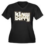 KlawBerry Logo Women's Plus Size V-Neck Dark T-Shi