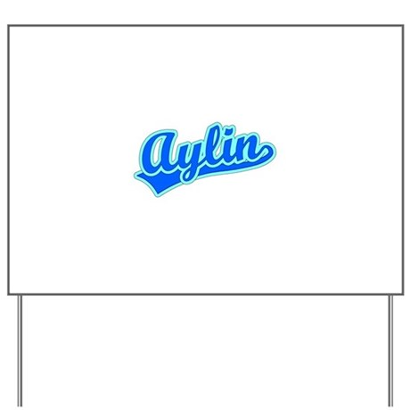 Retro Aylin (Blue) Yard Sign