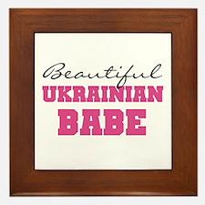 Ukrainian Babe Framed Tile