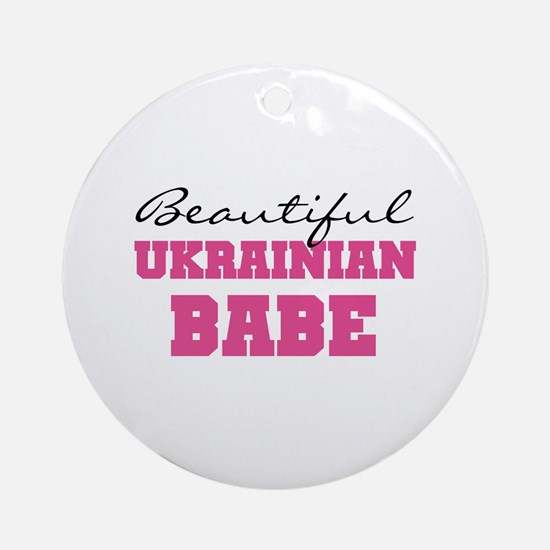 Ukrainian Babe Ornament (Round)