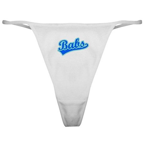Retro Babs (Blue) Classic Thong