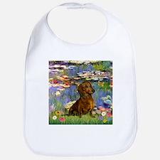 Dachshund in Monet's Lilies Bib