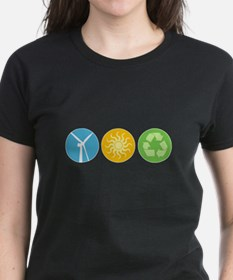 Wind, Solar, Recycle Tee