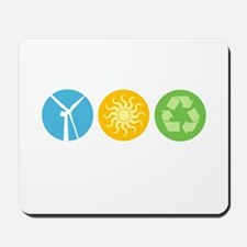 Wind, Solar, Recycle Mousepad