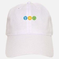 Wind, Solar, Recycle Baseball Baseball Cap