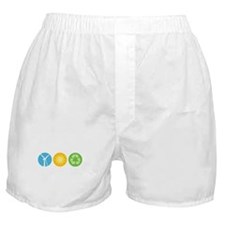 Wind, Solar, Recycle Boxer Shorts