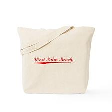 Vintage West Palm .. (Red) Tote Bag