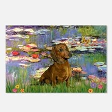 Dachshund in Monet's Lilies Postcards (Package of