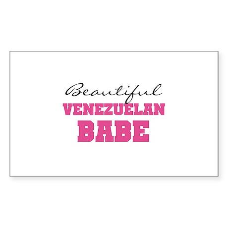 Venezuelan Babe Rectangle Sticker