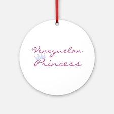 Venezuelan Princess Ornament (Round)