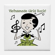 Vietnamese Girls Rock Tile Coaster