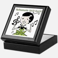 Vietnamese Girls Rock Keepsake Box