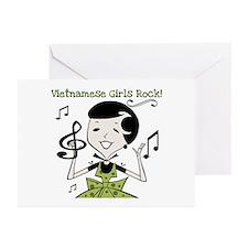 Vietnamese Girls Rock Greeting Cards (Pk of 10