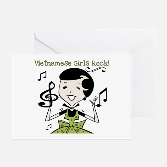 Vietnamese Girls Rock Greeting Cards (Pk of 10
