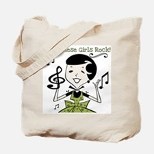Vietnamese Girls Rock Tote Bag